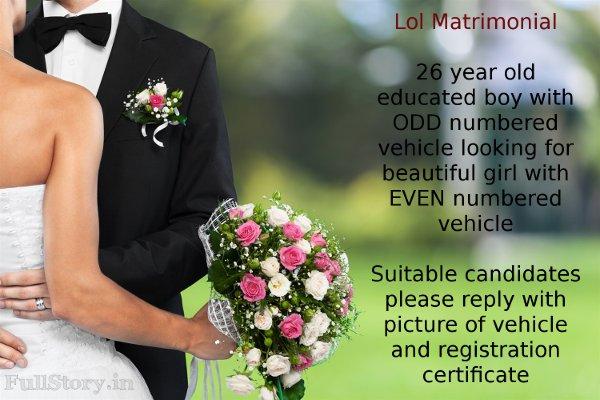 Delhi Even Odd Matrimonial